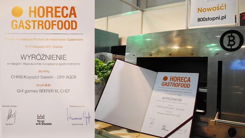 Wyróżnienie Targów HORECA dla Beefera XL CHEF